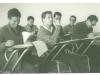 Alumnos en clase en el primer local de la Universidad