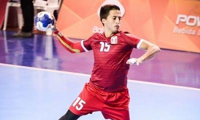 André Camborda (Ingeniería Industrial), jugador de balonmano, nos representará en los Panamericanos. Foto: Santiago Russo / Play Handball.