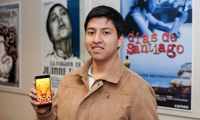 José Flores, alumno de Comunicación.