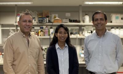 Los investigadores Javier Quino, Silvia Ponce y Raúl Eyzaguirre.