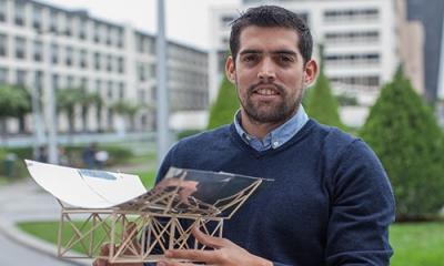 Alfonso Torres Vidaurre (Ingeniería Industrial) ha ganado un concurso con tecnología solar.