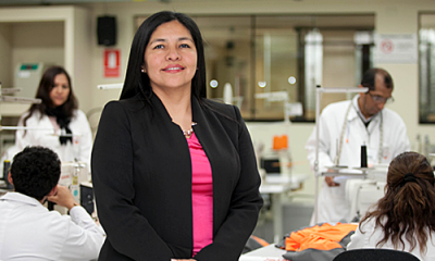 Patricia Larios (Ingeniería Industrial) participó en un taller previo al APEC 2016.