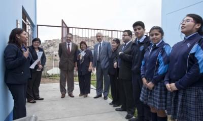 Inauguración del proyecto en el colegio San Luis Gonzaga.