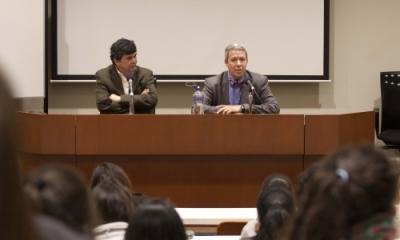 José Güich, profesor de Estudios Generales de la Ulima, y Scott Infanger.