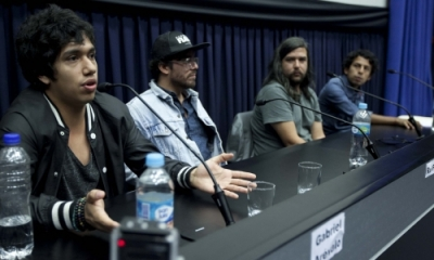 Gabriel Arévalo, Rui Pereira, Ricardo Gutiérrez y Gilmer Huayna, coordinador del Círculo de Música Ulima.