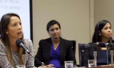 Daniela Gerlach, Camila Álvarez y Teresa Rojas.