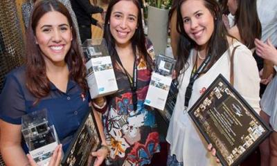 Karina Valdez, Jimena Arrieta y Ximena Ruiz, alumnas de Administración.