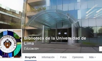 Facebook de la Biblioteca Ulima.