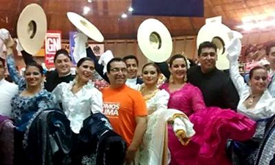 El equipo de marinera de la Ulima en Trujillo.