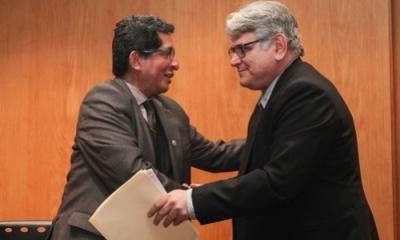 José Chaupis, de la UNMSM, y Daniel Parodi, de la Ulima.