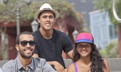 Jorge Monsalve (centro) y parte de su equipo.