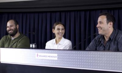 Rodrigo Bedoya Forno, Joanna Lombardi y Eduardo Mendoza.