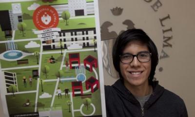 El diseño de Sebastian Flores La Vera (Comunicación) será la carátula del cuaderno Ulima 2015-2.