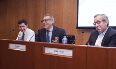 César Lucas (derecha) es socio de Auditoría de EY.