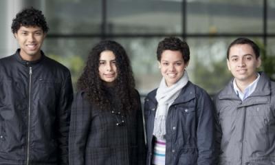 Alfredo Mantovani, Naomi Moreno, Claudia García y Piero Arbulú, de Ingeniería Industrial.