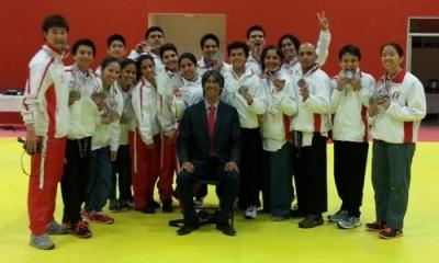 Equipo peruano que participó en la competencia. Foto de la Federación Deportiva Peruana de Taekwondo.