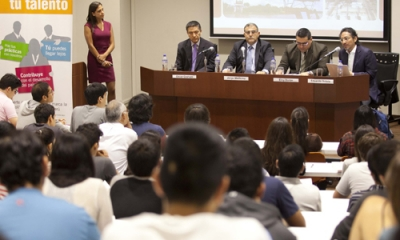 Óscar Graham, Jorge Medicina (moderador), Eloy Durán y Eduardo Sotelo.