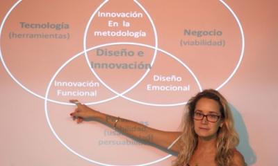Claudia Alfaro (Comunicación) en el Taller de Incubación de la Oficina de Emprendimiento.