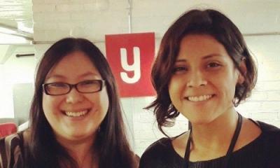 Karen da Cruz y Stephanie Frías en YouNoodle Camp.