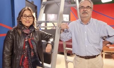 Nathalie Hendrickx y Augusto Tamayo, profesores de la Carrera de Comunicación.