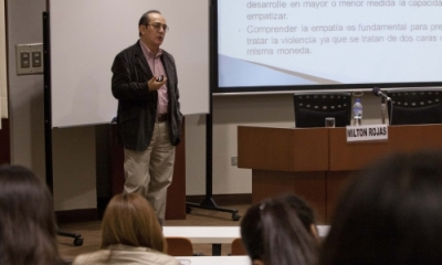 Milton Rojas, psicólogo de Cedro, en la Ulima.