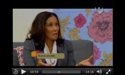 Nelly Chong, docente de Psicología, en Plus TV.