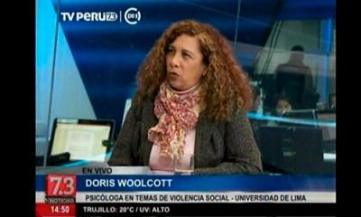 Doris Woolcott en TV Perú Noticias.