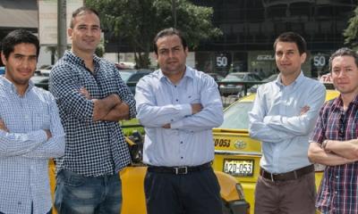 El equipo responsable de la aplicación Ojo Vial.