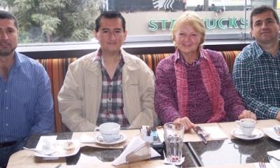 Eduardo Chávez, Martín Taype, Ludmila Volodina y Juan Jordán.