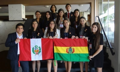 La delegación Ulima representó a Bolivia en el MOEA.