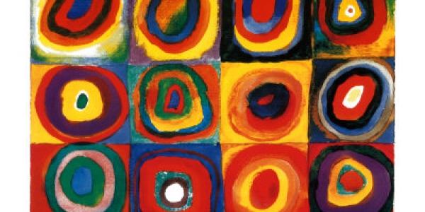 Cuadrados con círculos con-céntricos,  Wassily Kandinsky, 1913, ulima, arquitetura