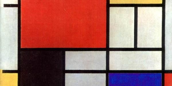 """""""Geometrías"""" Piet Mondrián, 1921, ulima, arquitectura"""