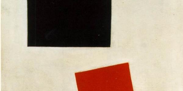 """Rectángulo negro y rectángulo rojo"", Kasimir Malevic, 1915"