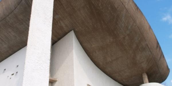 """""""Iglesia de Ronchamp"""", Le Corbusier, 1950, ulima, arquitectura"""
