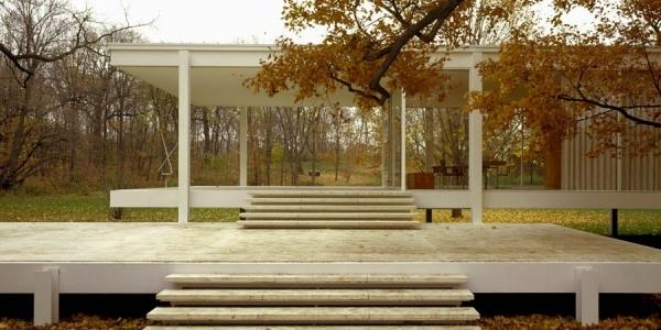 """Casa Farnsworth"" Mies van der Rohe, 1951, ulima, arquitectura"
