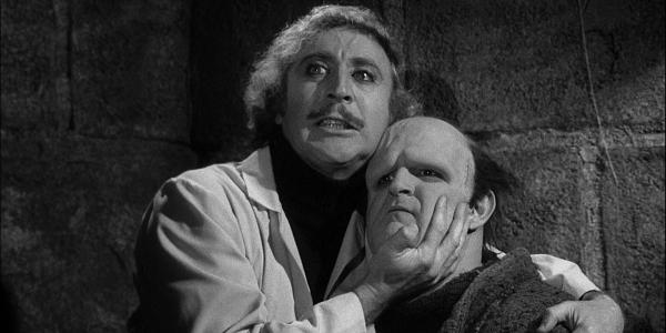 Gene Wilder y Peter Boyle en 'El joven Frankenstein', de Mel Brooks.
