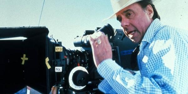 Peter Bogdanovich en el set de grabación.