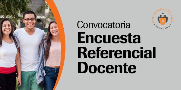 Convocatoria encuesta referencial docente 2016 1 for Convocatoria docente 2016
