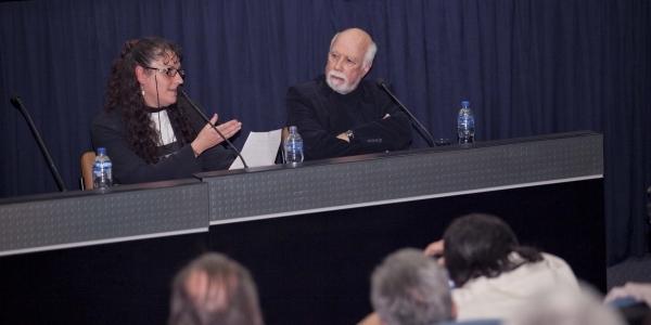 Diana Pinilla e Isaac León Frías.