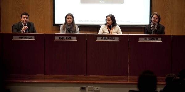 Ximena Rivera, María Amalia Puccinelli y Luisa Ramírez-Gastón comparten su experiencia en prevención e intervención del acoso en la escuela.