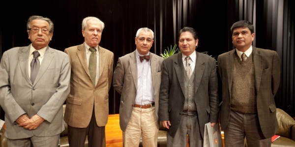 Marco Martos, Harry Belevan-McBride, Jorge Eduardo Benavides, Ricardo González Vigil y José Güich.