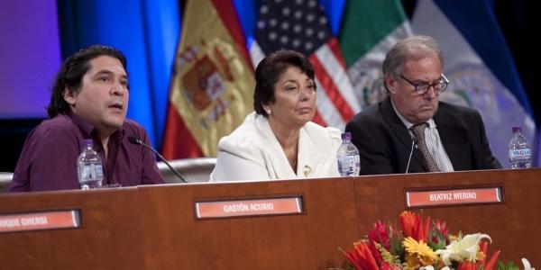 Gastón Acurio, Beatriz Merino y Alfredo Barnechea.