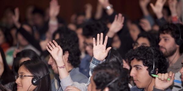 Participación del público en el Auditorio Central.