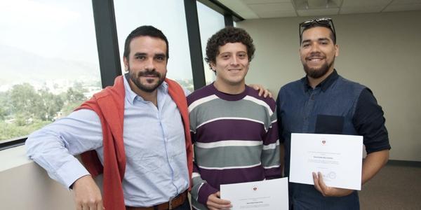 Julio César Mateus, Kevin Omar Cieza Cueva y Jeancarlo Sebastián Carpio Ferrando.
