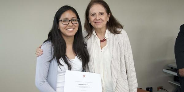 Yessenia Araceli Choco Puca y María Teresa Quiroz.