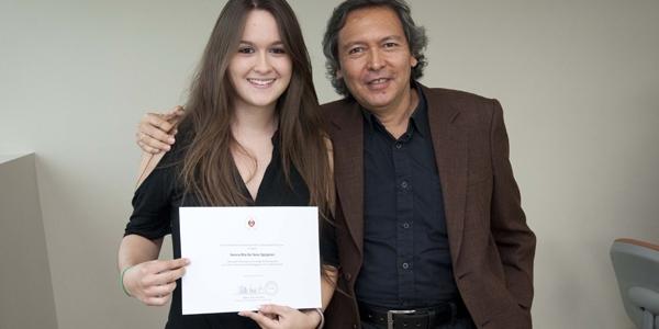 Valeria Rita del Solar Eguiguren y Giancarlo Carbone.