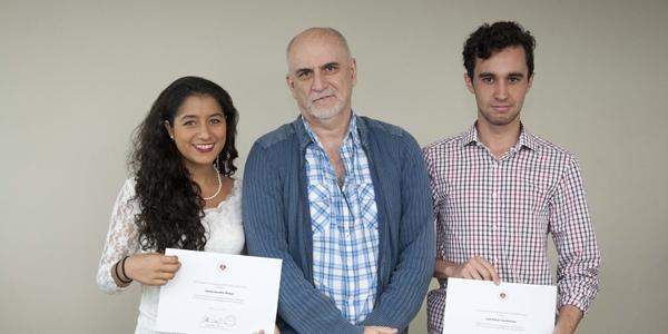 Fátima González Málaga, Ricardo Bedoya y Luigi Alonso Lizza González.