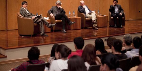 José Güich, Juan Bonilla, Carlos López Degregori y Paolo Gómez.