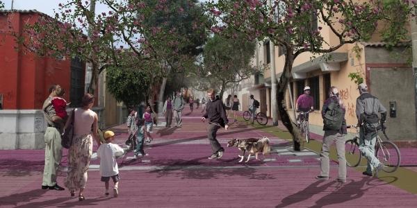 Vista digital de la línea de reconexión peatonal.