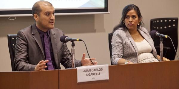 Juan Carlos Ugarelli y Lelis Guerrero, de Resource Talent Search.